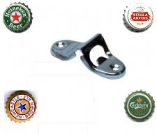 One Steel Wall Mounted BOTTLE OPENER + Fixing Screws from 1.91 ex vat